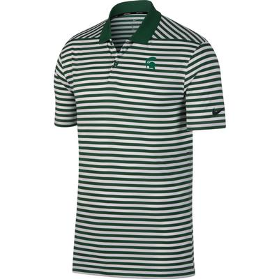 Michigan State Nike Golf Dry Victory Stripe Polo