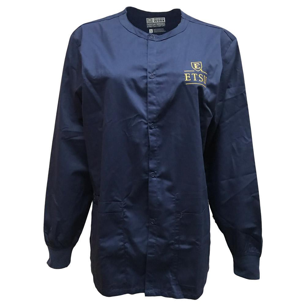 Etsu Snap Front Jacket Scrub Top