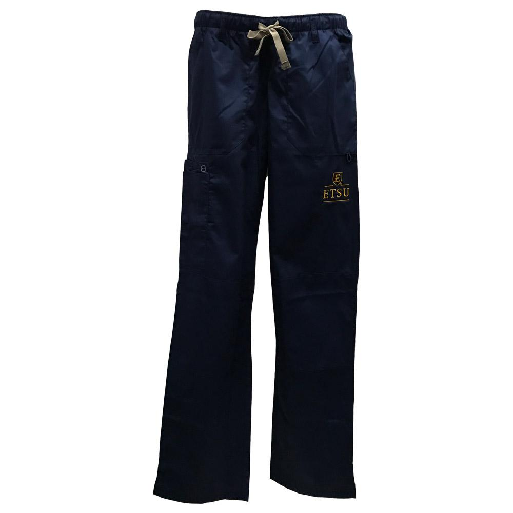 Etsu Women's Cargo Pocket Straight Leg Scrubs