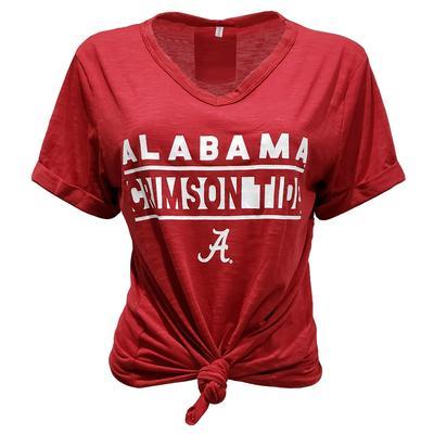 Alabama ZooZatZ Crimson Tide Knotted T-Shirt
