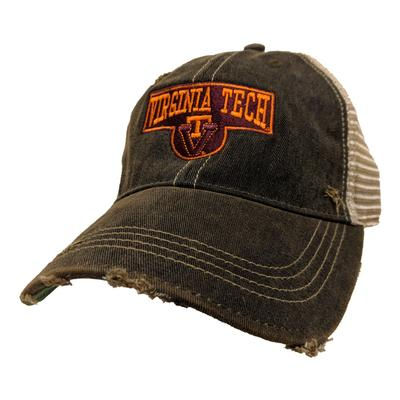 Virginia Tech Retro Brand Vault Sign Cap