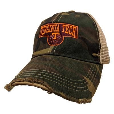 Virginia Tech Retro Brand Vault Sign Cap