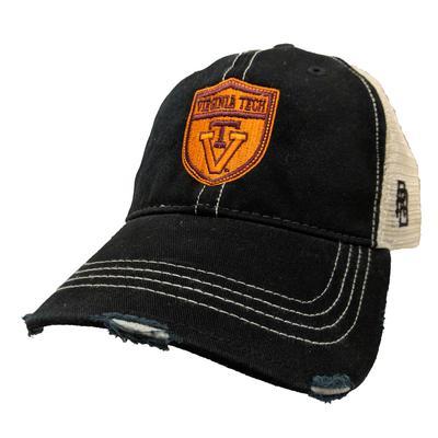 Virginia Tech Retro Brand Smokey Shield Vault Cap BLACK/MESH