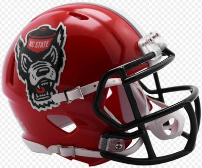 NC State Riddell Tuffy Speed Mini Helmet