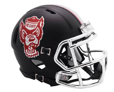 NC State Riddell Howl Speed Mini Helmet