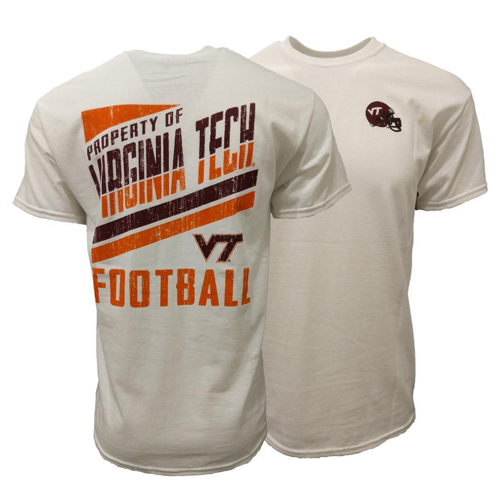 sale retailer af779 e8d6b VT-Virginia Tech Property Of Football T-Shirt-Alumni Hall