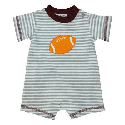 Maroon & Grey Infant Boys Football Romper