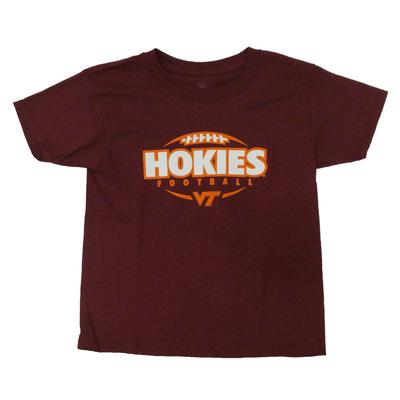 Virginia Tech Youth Football Stack T-Shirt