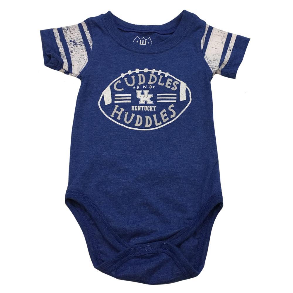 Kentucky Infant Sleeve Stripe Cuddles And Huddles Onesie