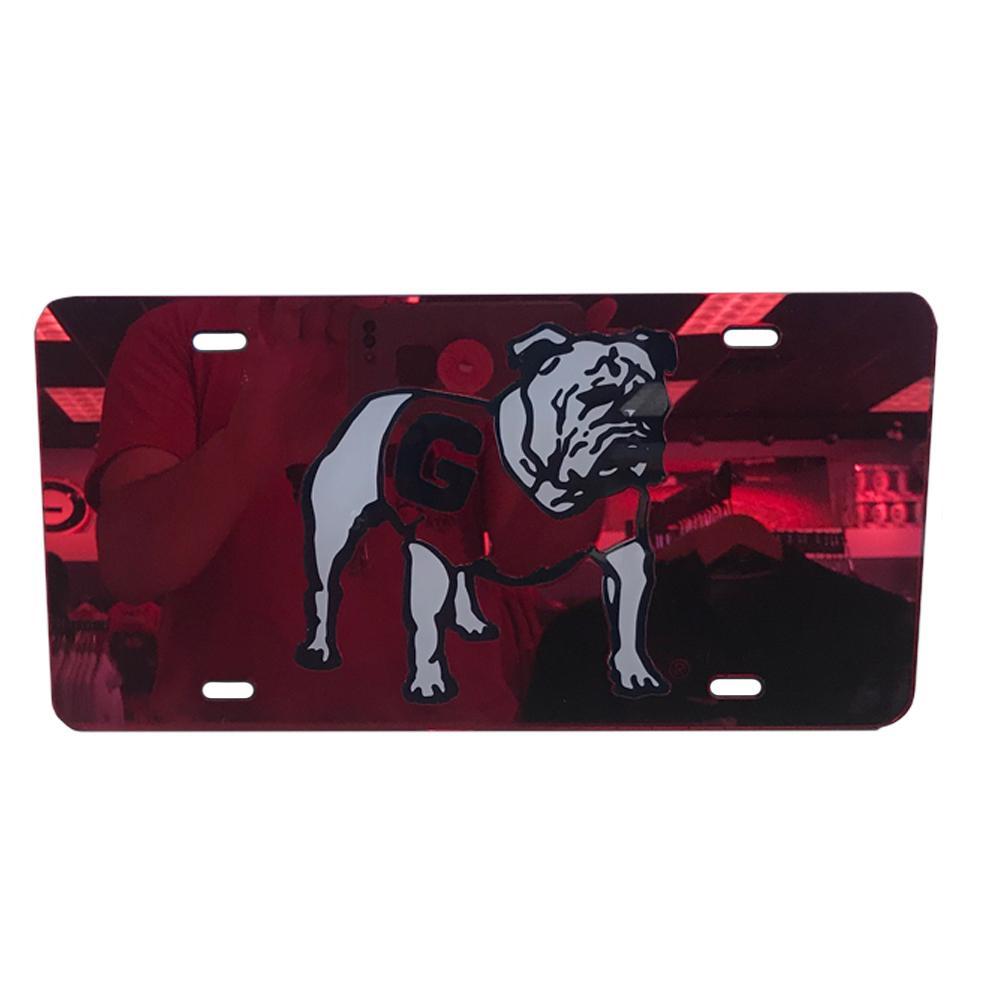 Georgia Reflective Vault Standing Bulldog License Plate