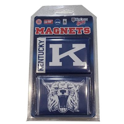 Kentucky Block K And Wildcat 2 Pack Magnets 3