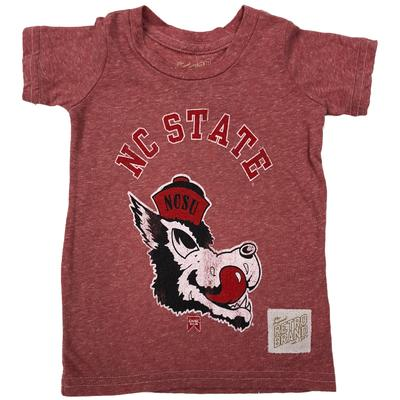 NC State Toddler Retro Brand Slobbering Wolf Vault Tee