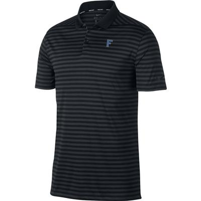 Florida Nike Golf Vault F Dry Victory Stripe Polo BLK