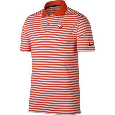 Florida Nike Golf Pell Logo Dry Victory Stripe Polo ORG