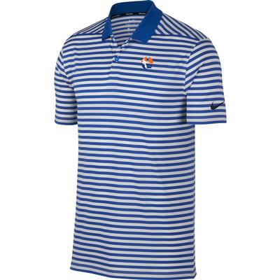 Florida Nike Golf Pell Logo Dry Victory Stripe Polo ROYAL