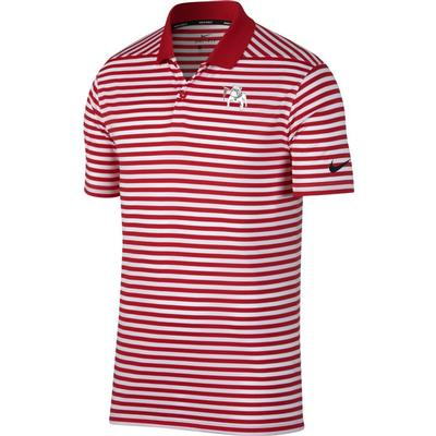 Georgia Nike Golf Vault Dawg Dry Victory Stripe Polo