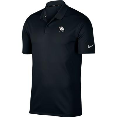 Georgia Nike Golf Vault Dawg Dry Victory Solid Polo BLK
