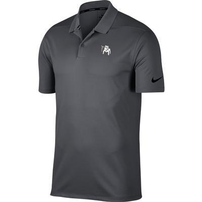 Georgia Nike Golf Vault Dawg Dry Victory Solid Polo DK_GREY