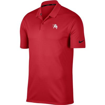 Georgia Nike Golf Vault Dawg Dry Victory Solid Polo RED