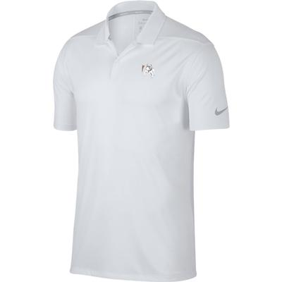Georgia Nike Golf Vault Dawg Dry Victory Solid Polo WHT