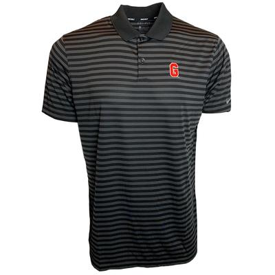 Georgia Nike Golf Block G Dry Victory Stripe Polo BLK/ANTHRACITE