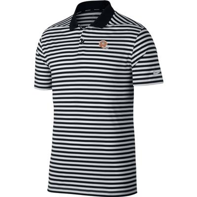 Georgia Nike Golf Retro Helmet Dry Victory Stripe Polo