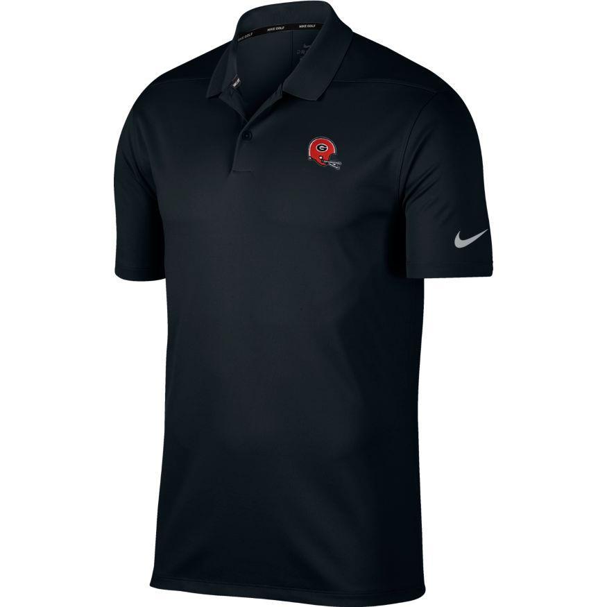 Georgia Nike Golf Retro Helmet Dry Victory Solid Polo