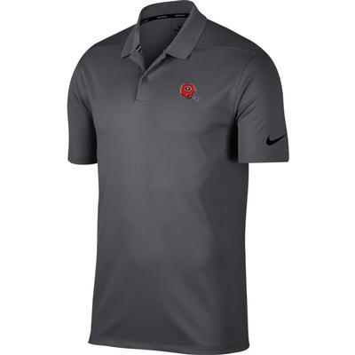 Georgia Nike Golf Retro Helmet Dry Victory Solid Polo DK_GREY