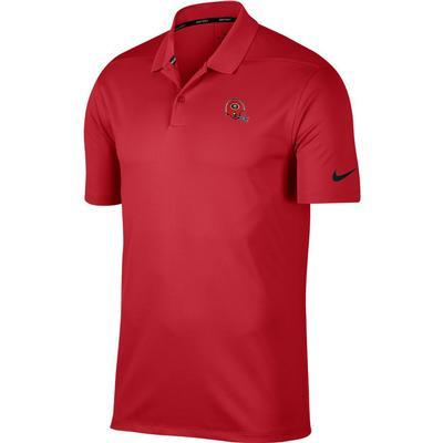 Georgia Nike Golf Retro Helmet Dry Victory Solid Polo RED