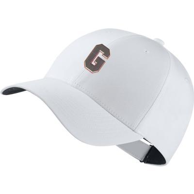 Georgia Nike Golf Block G Dri-Fit Tech Cap WHITE