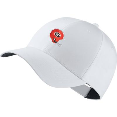 Georgia Nike Golf Retro Helmet Dri-Fit Tech Cap WHITE
