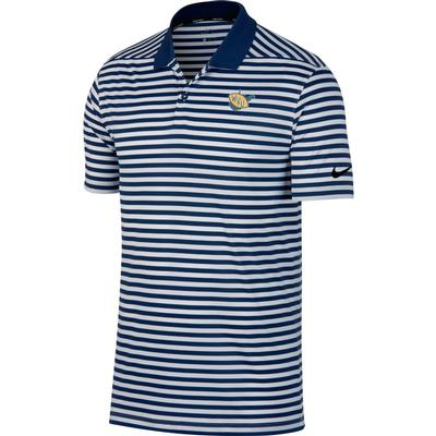 West Virginia Nike Golf Vault State Dry Victory Stripe Polo