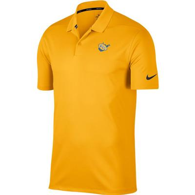 West Virginia Nike Golf Vault State Dry Victory Solid Polo GOLD