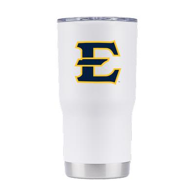 ETSU Gametime Sidekick White 20oz Tumbler With Lid