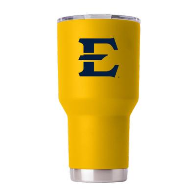 ETSU Gametime Sidekick 30oz Yellow Tumbler With Lid