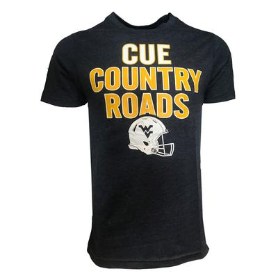West Virginia Cue Helmet Tee