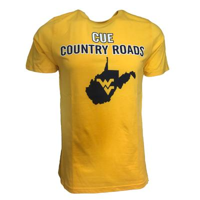 West Virginia Cue Country Roads State Tee