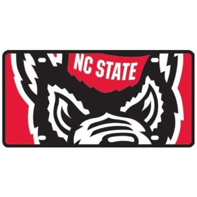 NC State Mega Logo License Plate