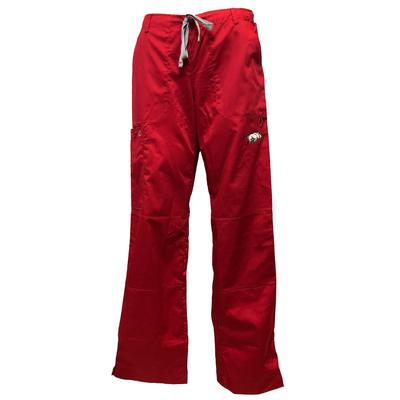 Arkansas Women's Cargo Pocket Straight Leg Scrubs