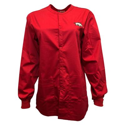 Arkansas Snap Front Jacket Scrub Top