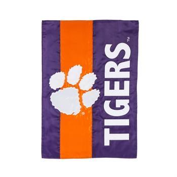 Clemson Tigers Striped Garden Flag