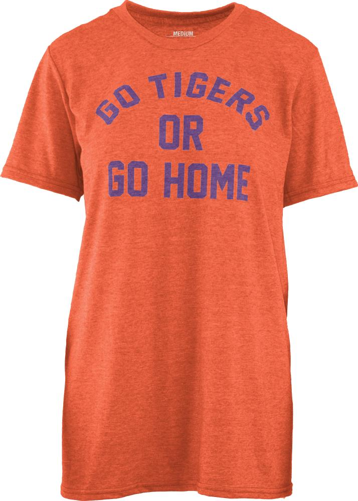 Go Tigers Or Go Home Pressbox Melange Tee