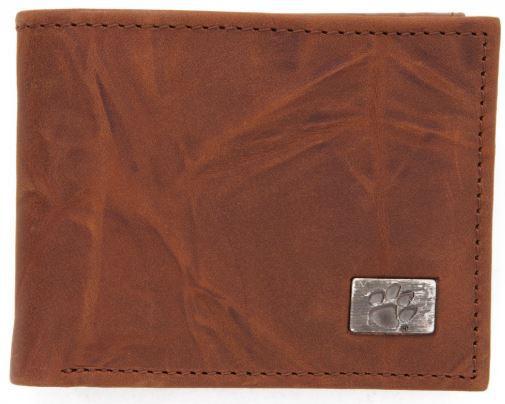 Clemson Leather Bi- Fold Wallet