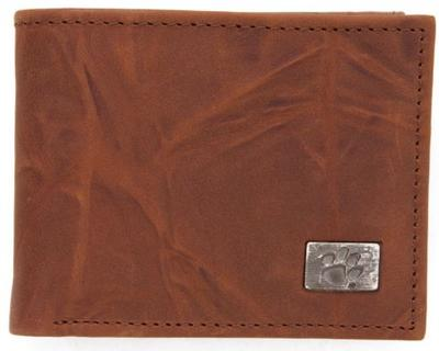 Clemson Leather Bi-Fold Wallet