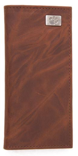 Clemson Leather Secretary Wallet