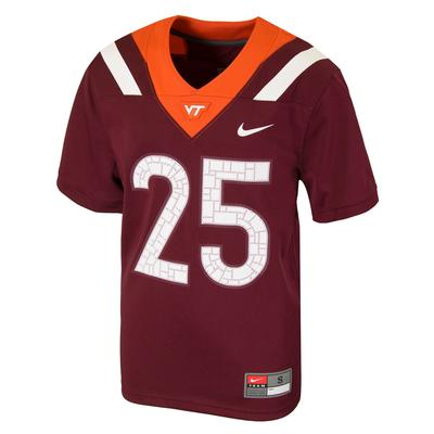 Virginia Tech Nike Youth Replica #25 Jersey