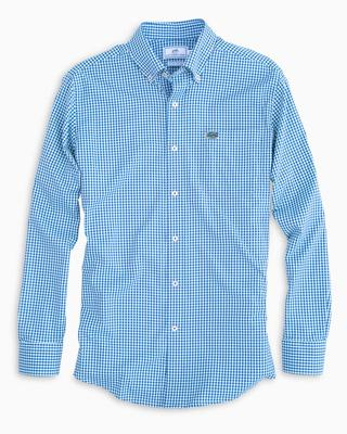 Florida Southern Tide Gingham Intercoastal Woven Shirt