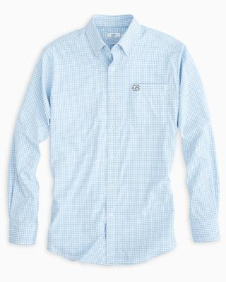 UNC Southern Tide Gingham Intercoastal Woven Shirt