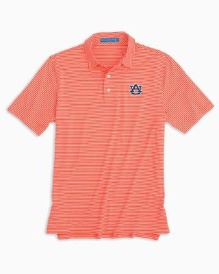 Auburn Southern Tide Gameday Stripe Polo ENDZONE_ORANGE