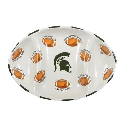 Michigan State Magnolia Lane Football Platter
